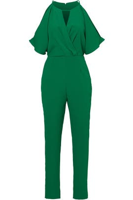 Green Kimono Sleeve Jumpsuit by Adelyn Rae