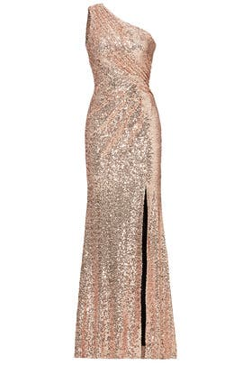 Blush Constellation Gown by Badgley Mischka