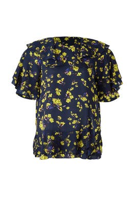 Flower Print Top by Goen. J