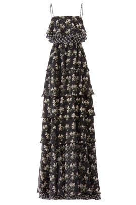 Floral Kiera Ruffle Gown by Jill Jill Stuart