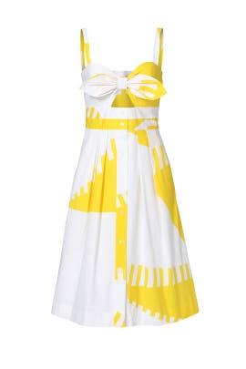 Yellow Printed Jordan Dress by Milly