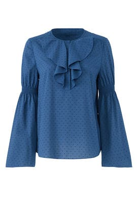 Blue Linden Top by Rachel Zoe