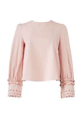 Blush Eyelet Detail Top by See by Chloe