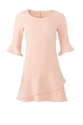 Pink Double Ruffle Dress by Slate & Willow