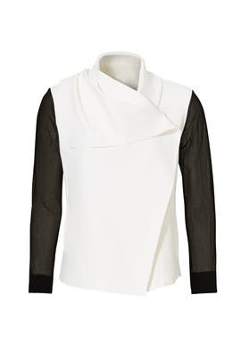 White Sophisticate Jacket by ALALA