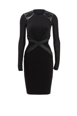 Black Bell Sleeve Sheath by Badgley Mischka for $65 $85