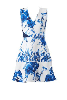 Blue Floral Brushstroke Dress by Slate & Willow
