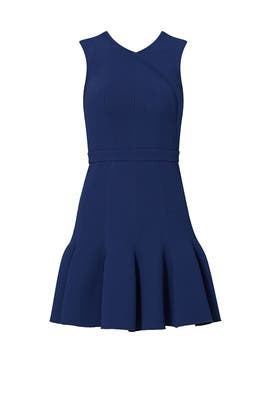 Navy Pleated Mini Dress by Carven