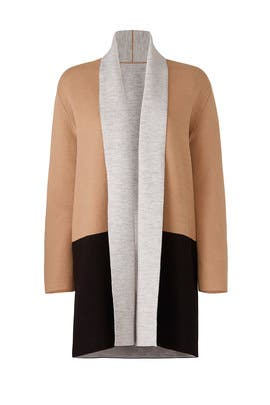 Camel Romare Shawl Coat by DREYDEN