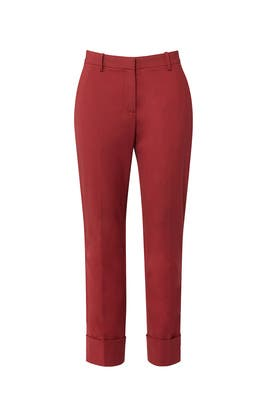Cider Red Trouser by Theory