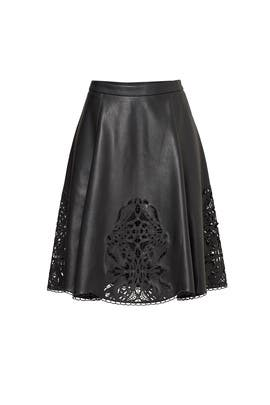 Black Faux Leather Skirt by TART Collections