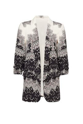 Black and White Print Blazer by TART Collections