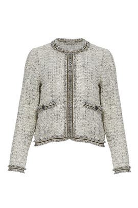 Fringe Jacquard Jacket by cupcakes and cashmere