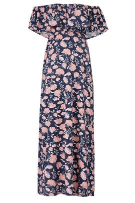 Floral Off Shoulder Maternity Maxi by Ingrid & Isabel
