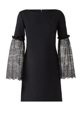 Black Lace Aline Dress by Slate & Willow