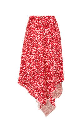 Spotted Midi Skirt by DEREK LAM