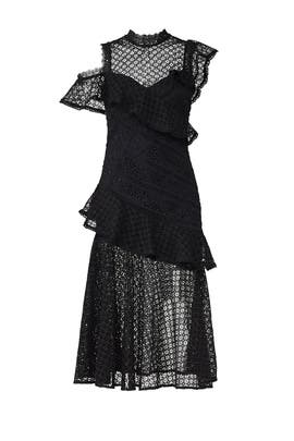Black Lace May Dress by AMUR
