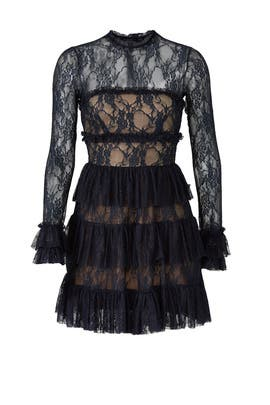 Circle Ruffle Lace Dress by Bailey 44