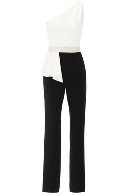White Tie Tuxedo Jumpsuit by pamella by pamella roland