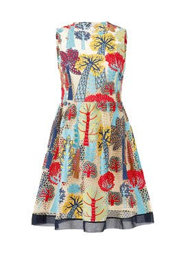 Graphic Forest Dress by RED Valentino