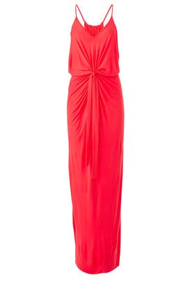 Coral Drape Front Maxi by Slate & Willow
