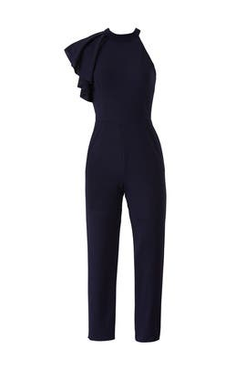 Ruffle Shoulder Jumpsuit by Slate & Willow