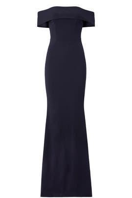 Navy Legacy Gown by Katie May