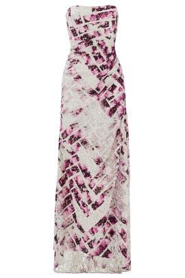 Raspberry Mosaic Gown by Monique Lhuillier