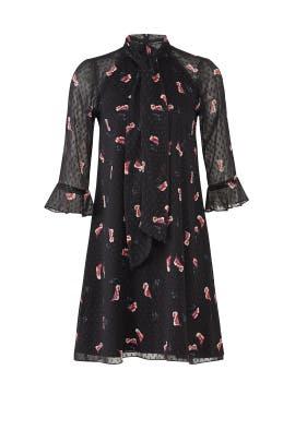 Black Flower Petal Dress by Slate & Willow