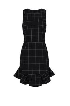 Black Windowpane Dress by Adelyn Rae
