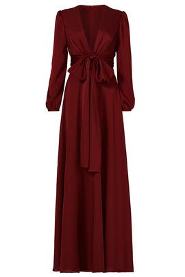 Oxblood Manor Gown by Jill Jill Stuart
