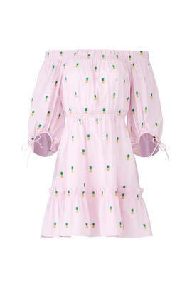 Pineapple Off Shoulder Dress by kate spade new york