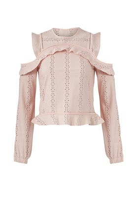 Pink Cold Shoulder Top by Nicholas
