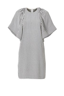 Pleated Bold Sleeve Dress by Rachel Comey