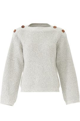 Buttoned Shoulders Sweater by sita murt