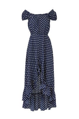 Navy Polka Dot Maxi by Slate & Willow