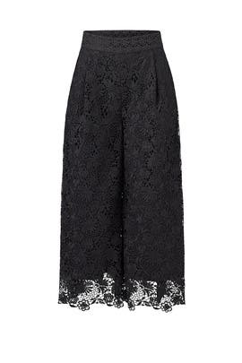 Black Holly Lace Culottes by Diane von Furstenberg