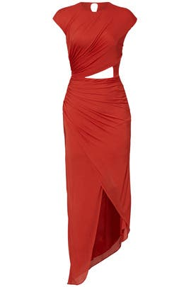 Chili Draped Cut Out Dress by Halston Heritage