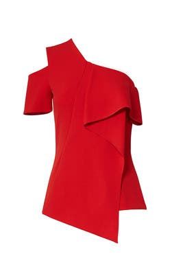 Red Ruffle Top by Jason Wu