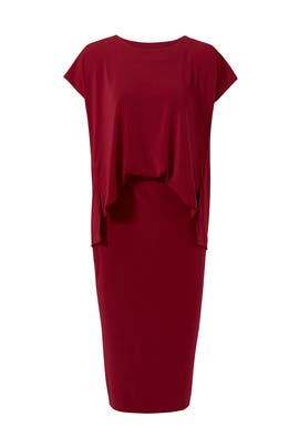 Burgundy Bixia Dress by By Malene Birger