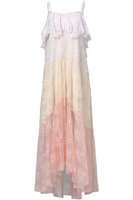 Sunset Lace Ruffle Maxi by Philosophy di Lorenzo Serafini