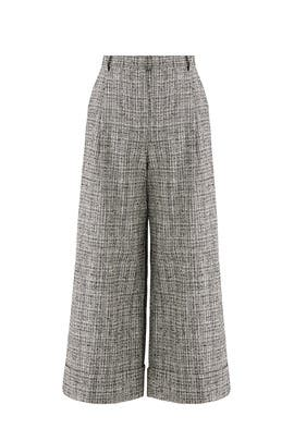 Gray Wide Leg Pants by Tara Jarmon