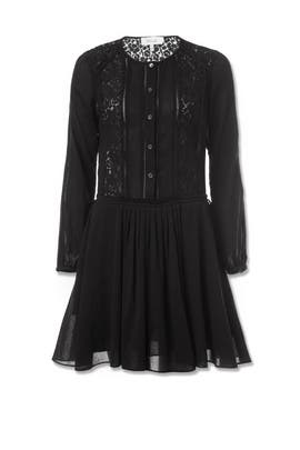 Black Lace Inset Dress by 10 CROSBY DEREK LAM