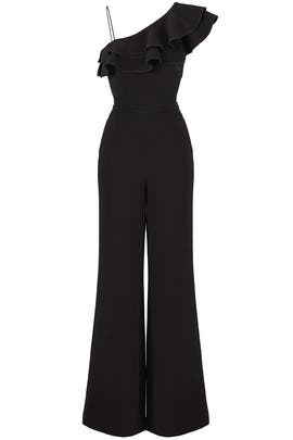 Black Osborne Jumpsuit by Rachel Zoe