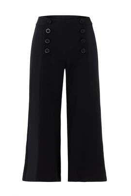 Black Sugarcane Crop Pants by Nanette Lepore