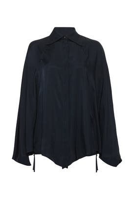 Dark Blue Oversized Top by Nina Ricci