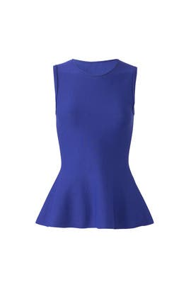 Blue Classic Peplum Top by Theory