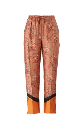 Floral Colorblock Trousers by Scotch & Soda