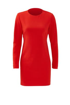 Red Structured Cut Out Dress by Tibi
