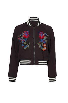 Marisol Embroidered Bomber Jacket by Tibi